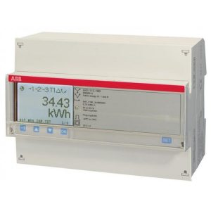 ABB A43 (Bronze) Range 80A MID Approved kWh import/export meter with pulse output and Modbus A43-212-100