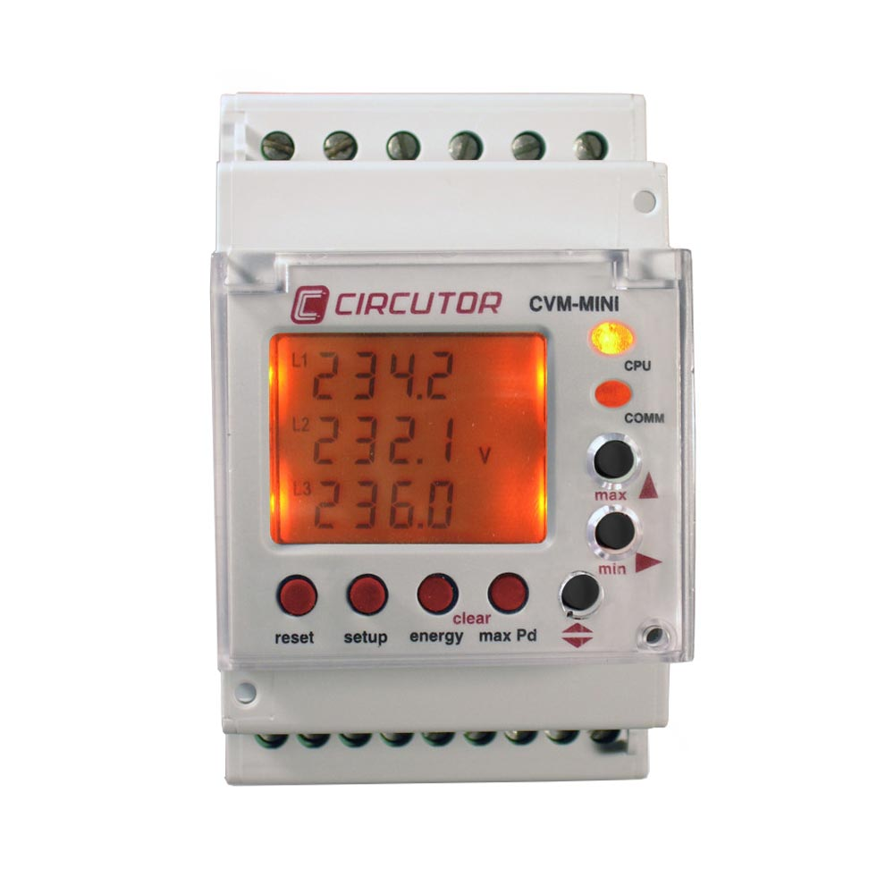 675ad8a081c6b6 Circutor CVM Mini 3-phase DIN-rail Multifunction Electricity Meter with  Modbus
