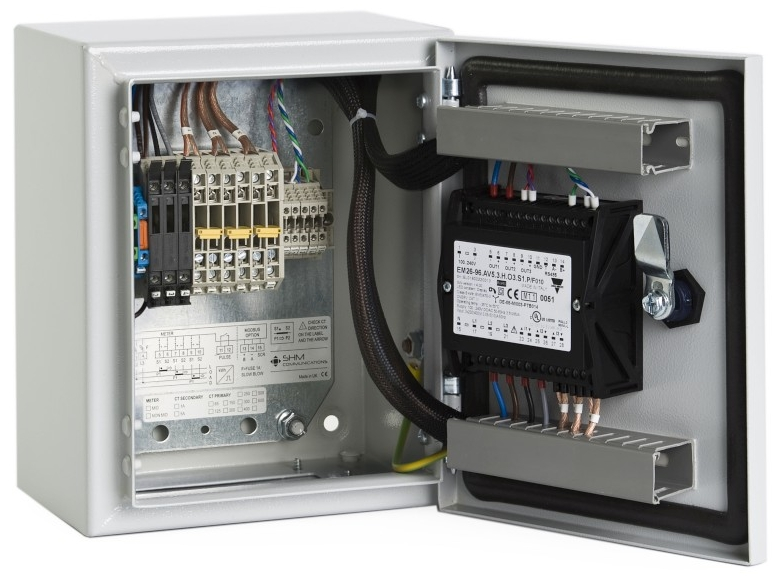 XMP1 Metal Enclosure with Carlo Gavazzi EM26 meter.