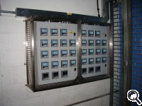 30-meter panel with glass and stainless steel protection