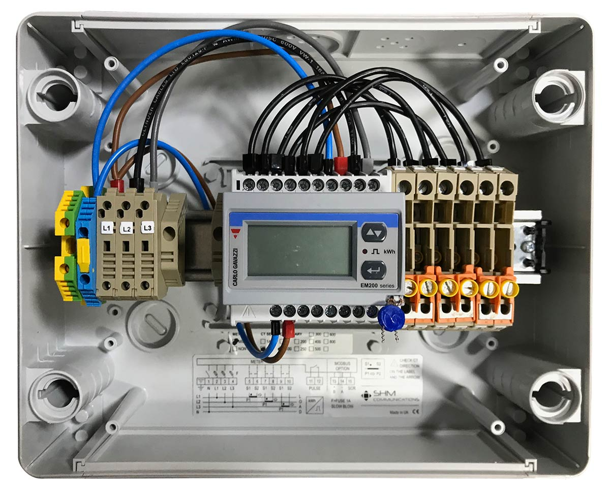 shm meter panel din rail installation