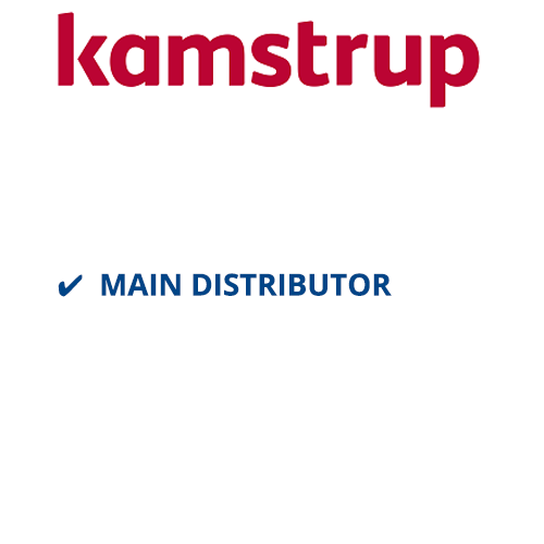 Kamstrup logo with main distributor